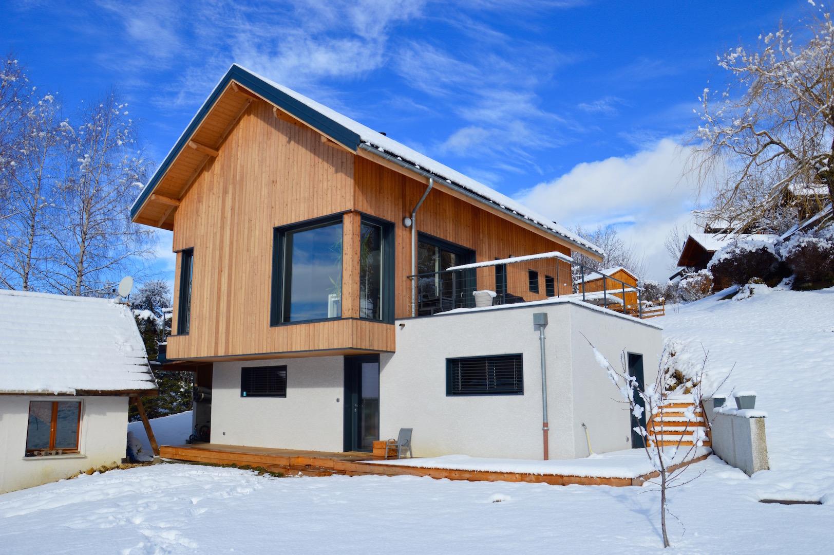 Construction d'une maison à 850m d'altitude