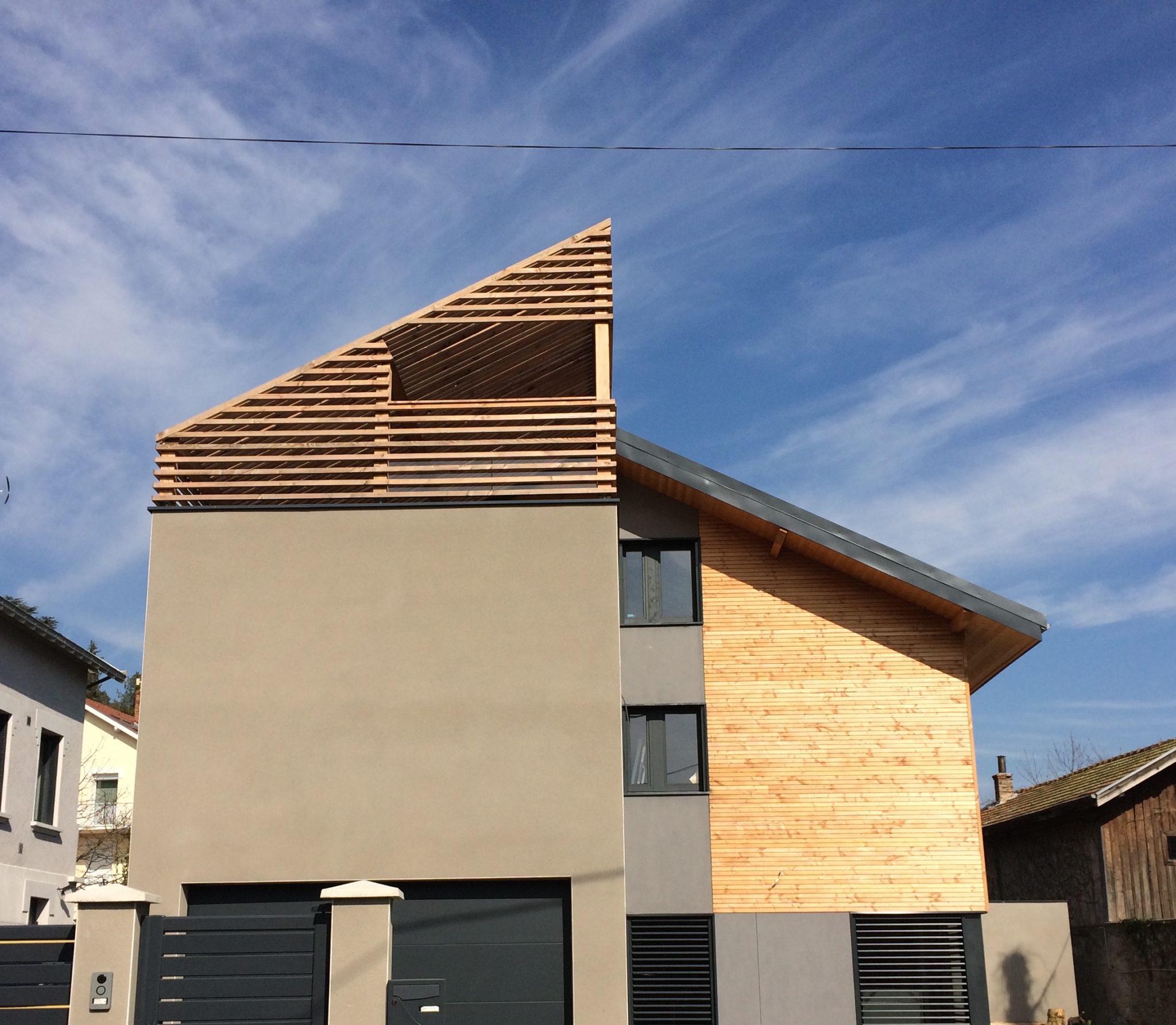 Réalisation d'une maison sur 3 niveaux en Isère