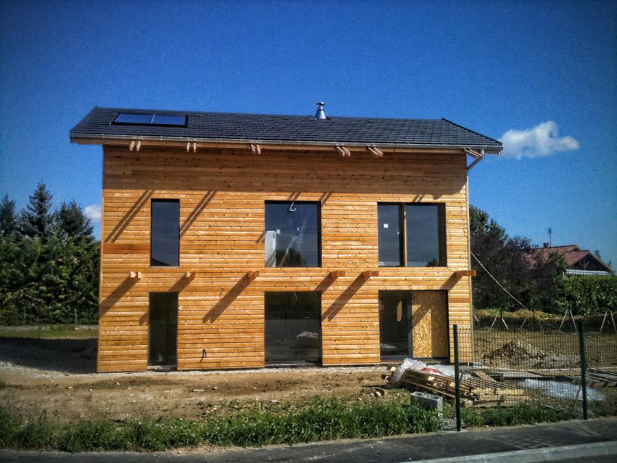 construction d une maison ossature bois kokeliko. Black Bedroom Furniture Sets. Home Design Ideas